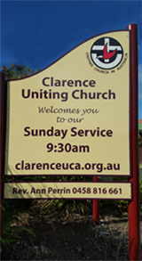 Street sign Bellerive Uniting Church